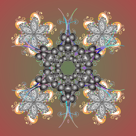 Vector ornamental winter illustration for decoration, Christmas greeting cards, invitation template. Coloring pages. elegant snow flake.