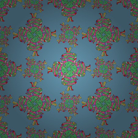 Funny fish outline pattern on colored background. Illustration