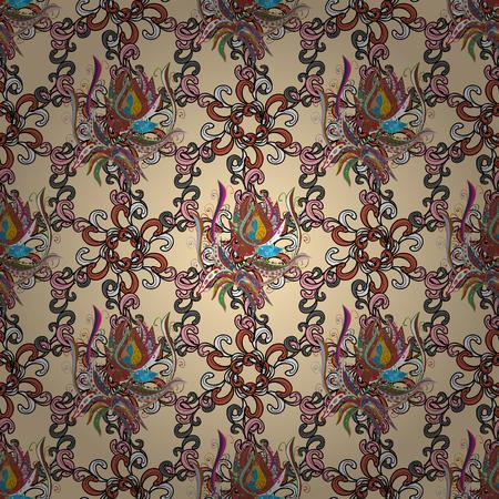 Vector illustration. Background. Colored mandalas element. Illustration