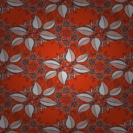 화려한 배경에 나뭇잎. 벡터 플랫 원활한 패턴을 나뭇잎. 디자인 선물 포장지, 인사말 카드, 포스터 및 배너 디자인.