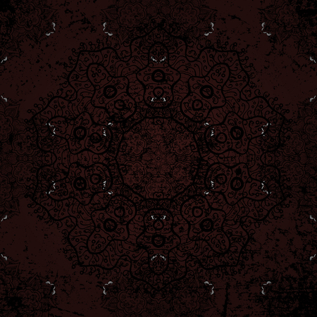 baroque: Ornate vector decoration. Damask white brown and white floral flower pattern background on vector.