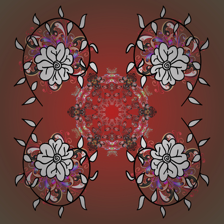 Traditional classic ornament. Vintage pattern with arabesques. Oriental vector pattern with arabesques and floral elements.