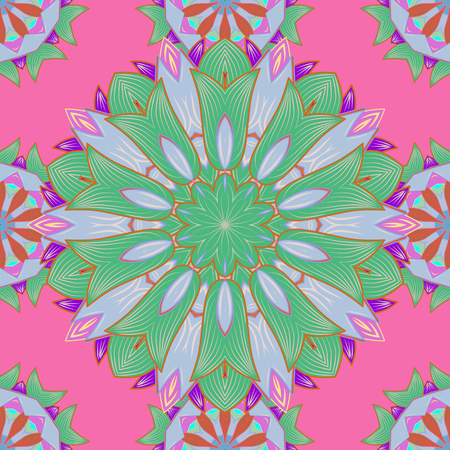 Bag design. Hand-drawn vector mandala with colored abstract pattern on a colorful background. Illustration
