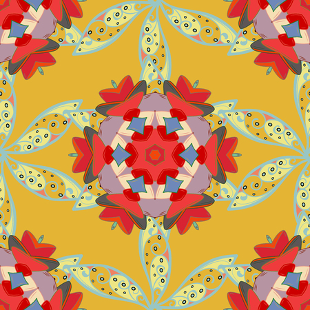Seamless floral pattern with flowers, watercolor. Vector pattern. Fancy fabric pattern.
