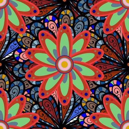 Vector illustration. Ultrafashionable fabric pattern. Organic motif background. Seamless pattern. 向量圖像