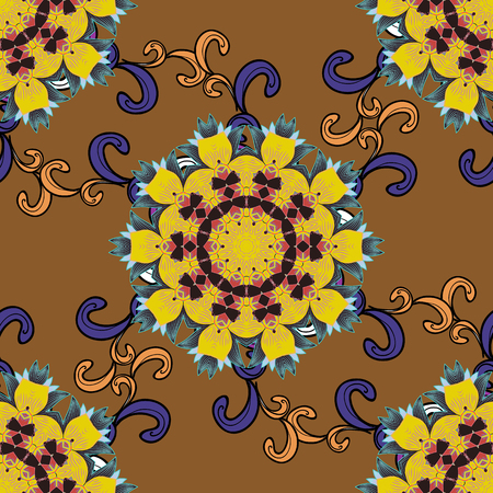 Vector illustration of a fashionable fabric pattern Çizim