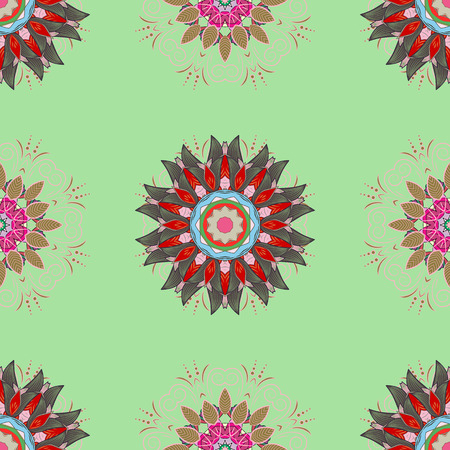 Vector illustration. Seamless floral pattern with nice doodles flowers. Cute Floral pattern in the small flower. Beautiful fabric pattern.