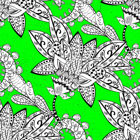 Oriental vector classic green and white and white pattern. Abstract background. Illustration