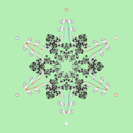 shaft: Holiday design for Christmas and New Year fashion prints. Christmas pattern with snowflakes abstract background. Vector illustration. Background. Snowflakes.