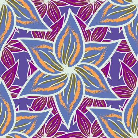 enfant maillot de bain: Flowers on colored background in watercolor style. Seamless floral pattern with flowers on colored background.