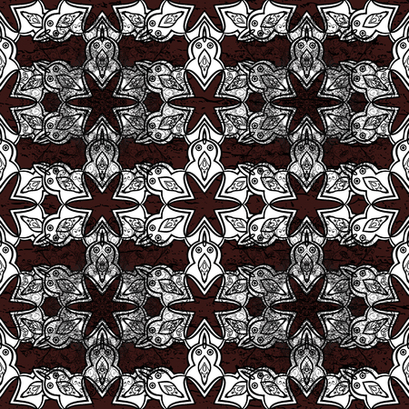 Damask ornament. Traditional vector and white pattern. Classic oriental background.