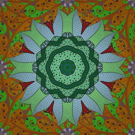 Fondo de vector sin fisuras con flores. Estilo de los niños. Color Primavera Tema patrón transparente Antecedentes. Foto de archivo - 83031556