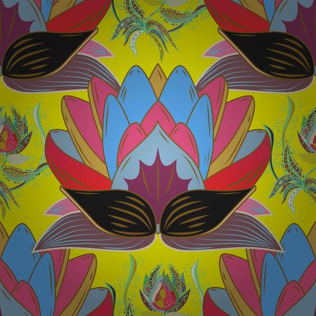 Nahtloses Hintergrundmuster. Blumen auf. Vektor Lager Aquarell, handgezeichnet.