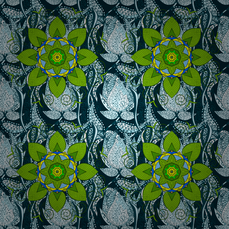 The elegant the template for fashion prints. Modern floral background. Amazing seamless floral pattern with bright colorful flowers and leaves on a colored background. Folk style. Illustration