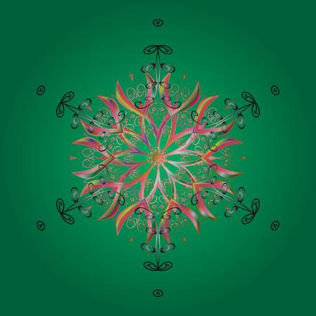 Vector illustration. Snowflake Vector illustration. Snowflake Icon. Snowflake isolated on colorful background.