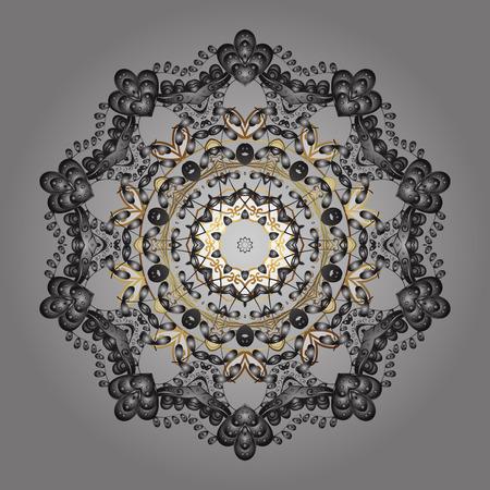 Snowflakes icon in doodle sketch lines. Winter snow December season. Vector illustration.