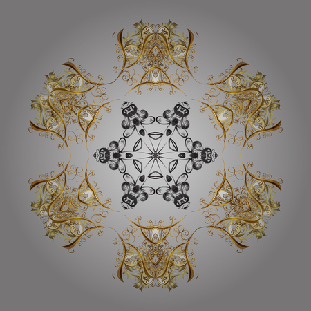 Snowflake Vector illustration. Snowflake Icon. Winter mandala. Snowflake isolated on gray shadows eadial background.