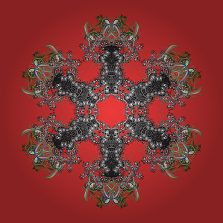 A Vector illustration. Snowflakes icon in doodle sketch lines. Winter snow December season.