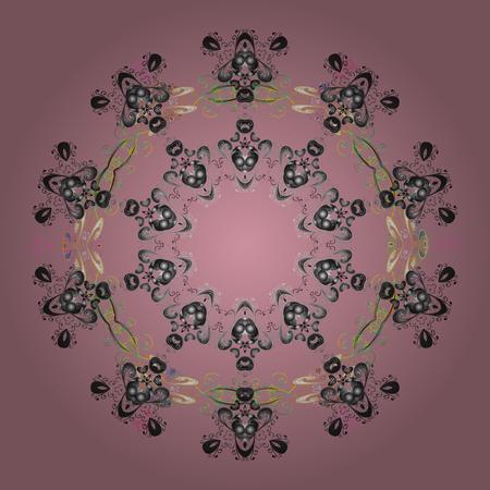Vector illustration. ?rystal snowflake in colors on colorful background. Ilustração