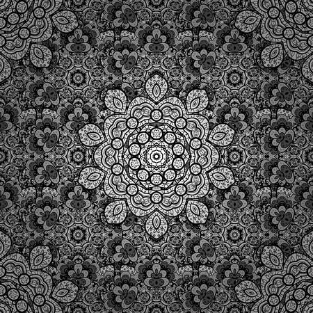 expensive: Damask white white floral flower pattern background on vector. Ornate vector decoration. Illustration