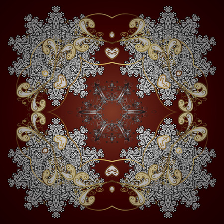 contoured: Isolated of vector snowflake. Fine winter ornament. Colorful snowflakes Vector illustration.