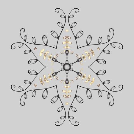 Zentangle Invierno Copo De Nieve Para Navidad, Año Nuevo. Freehand ...