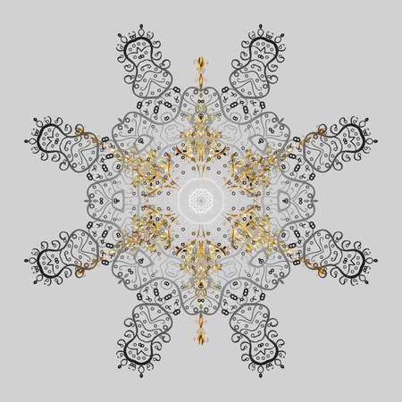 Hand drawn antistress snowflake. Winter coloring pages for adult art therapy. illustration. Template for cover, poster, t-shirt or tattoo.