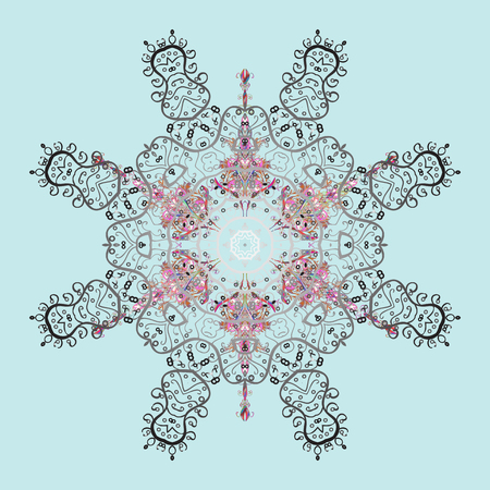 lay: Oriental pattern with arabesques and floral elements. Traditional classic ornament. Vintage pattern with arabesques.