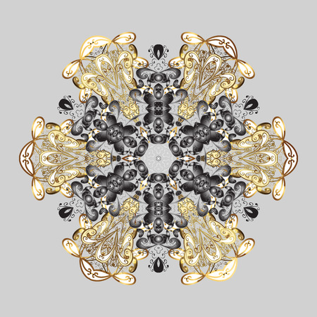 Snowflakes radial background. Isolated nice snowflakes on gray background.Vector illustration. Illustration
