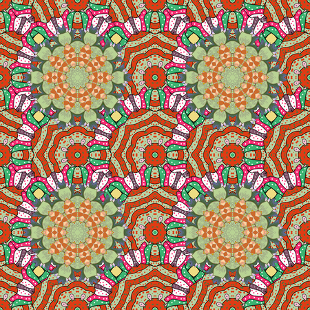 Seamless background with exotic patterns. Иллюстрация