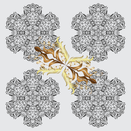 christmas gifts: Vector illustration. Vector snowflakes background. Snowflakes pattern. Flat design with abstract snowflakes isolated on colors background. Snowflake colorful pattern.