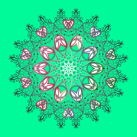 Pattern with snowflakes.vector christmas abstract colorful background with falling snowflake. Vector illustration. Illustration