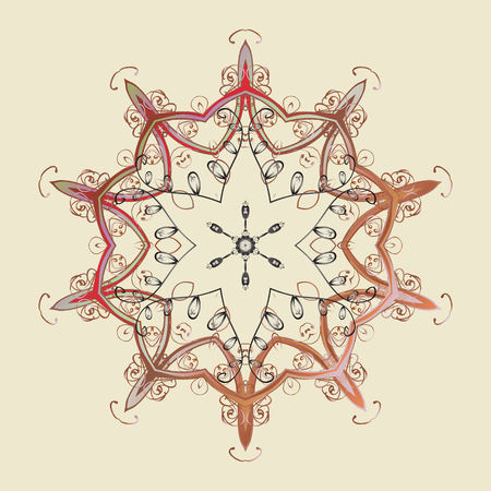 Vector design. winter snowflake for Christmas, New Year. Freehand artistic ethnic illustration for adult coloring pages, art therapy, bohemian tattoo, t-shirt patterned print, posters.