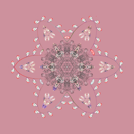 leaden: Christmas snowflake of decoration on snow. Christmas festive background. Vector illustration.