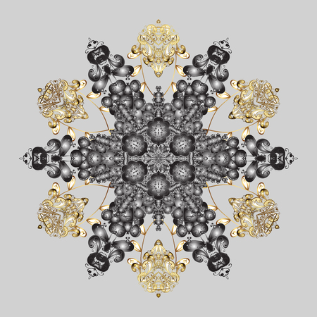 Vector illustration. A gray background with snowflakes. Vector christmas abstract colorful background with cute snowflake.