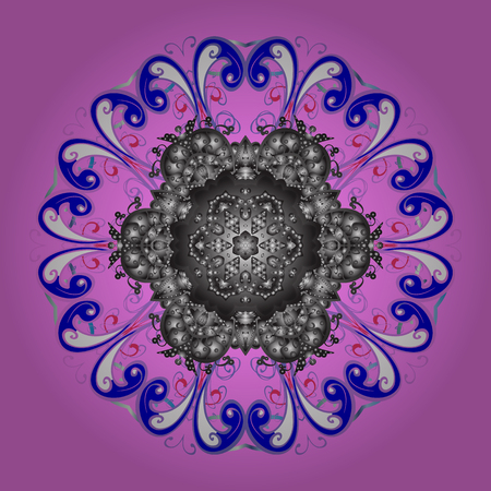 Vector illustration. ?rystal snowflake in colors on colorful background. Illustration