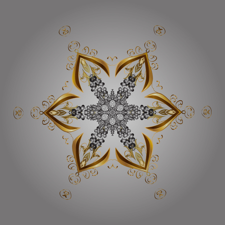 contoured: Snowflakes pattern. Snowflakes background. Vector illustration. Snowflake ornamental pattern. Flat design of snowflakes isolated on colorful background.