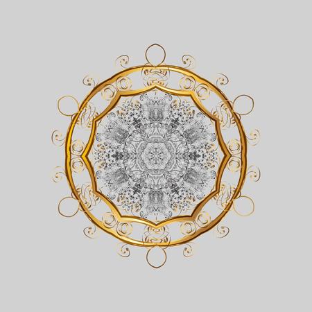 lightweight ornaments: Snowflakes pattern Flat design