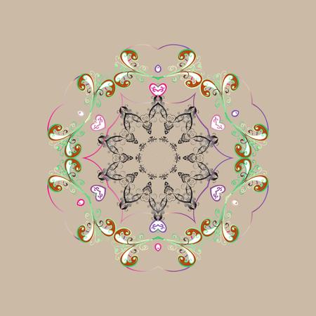 Nieve Sobre Fondo De Color. Boceto Abstracto, Envolviendo La ...