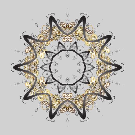 Winter snow December season. Vector illustration. Snowflakes icon in doodle sketch lines.