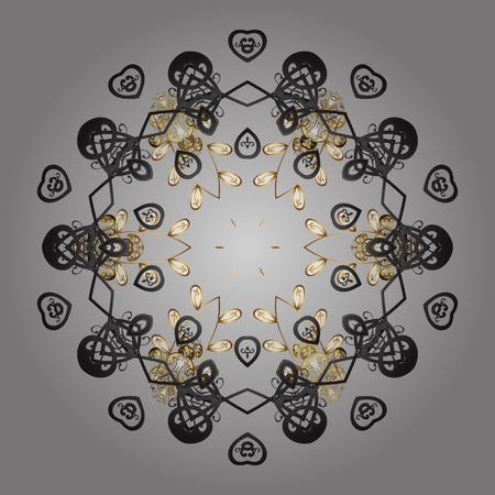 Snowflake isolated on gray background. Snowflake Vector illustration. Winter mandala. Snowflake Icon. Illustration