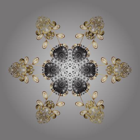 lightweight ornaments: Snowflake Icon. Winter mandala. Snowflake Vector illustration. Snowflake isolated on gray background. Illustration