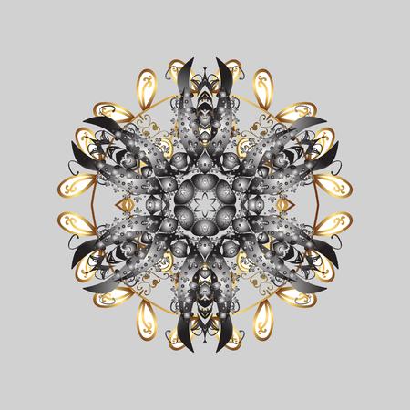 Snowflake Icon. Snowflake Vector illustration. Snowflake isolated on gray background. Winter mandala.