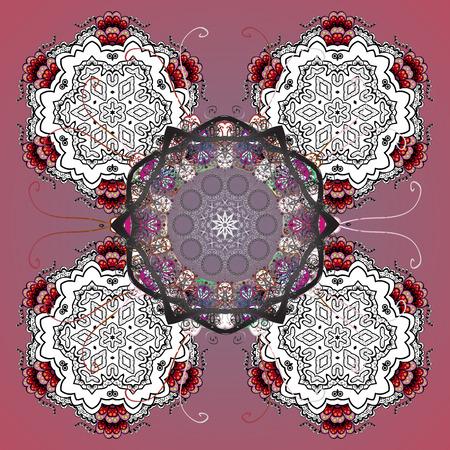 Snowflakes. Vector illustration. Christmas pattern with snowflakes abstract background. Background. Holiday design for Christmas and New Year fashion prints.