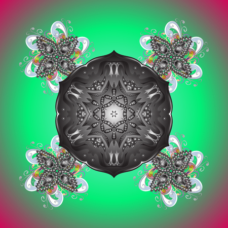 Christmas Stylized Snowflakes on a colored background. Vector illustration.