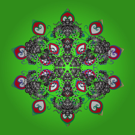 Flat design. Vector illustration. Snowflake icon, isolated. Vector nice snowflakes on colorful background.