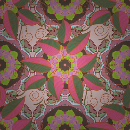 Ilustración vectorial Sin costura. Lindo patrón floral en la pequeña flor. Foto de archivo - 85559349