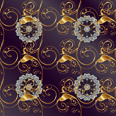 Classic vector and golden pattern. Traditional orient ornament. Classic vintage background.