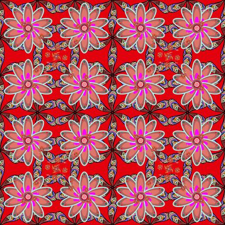 De elementos de doodle. O padrão de flor sem costura pode ser usado para esboço, fundo do site, papel de embrulho, convite, folheto, banner ou site. Ilustração desenhada mão do vetor. Foto de archivo - 86158178