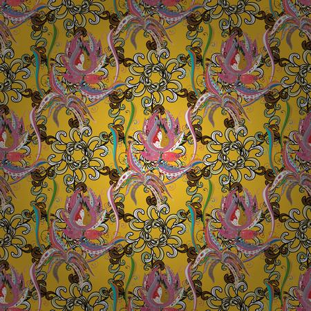 Diseño de patrón de flores elegante, brillante y sin costuras. Se puede usar en impresiones de tazas, prendas de bebé, bocetos, cajas de embalaje, etc. Foto de archivo - 86227584